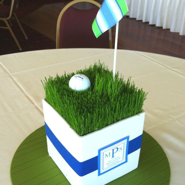 Golf table centerpiece 40th birthday pinterest for Golf centerpiece ideas