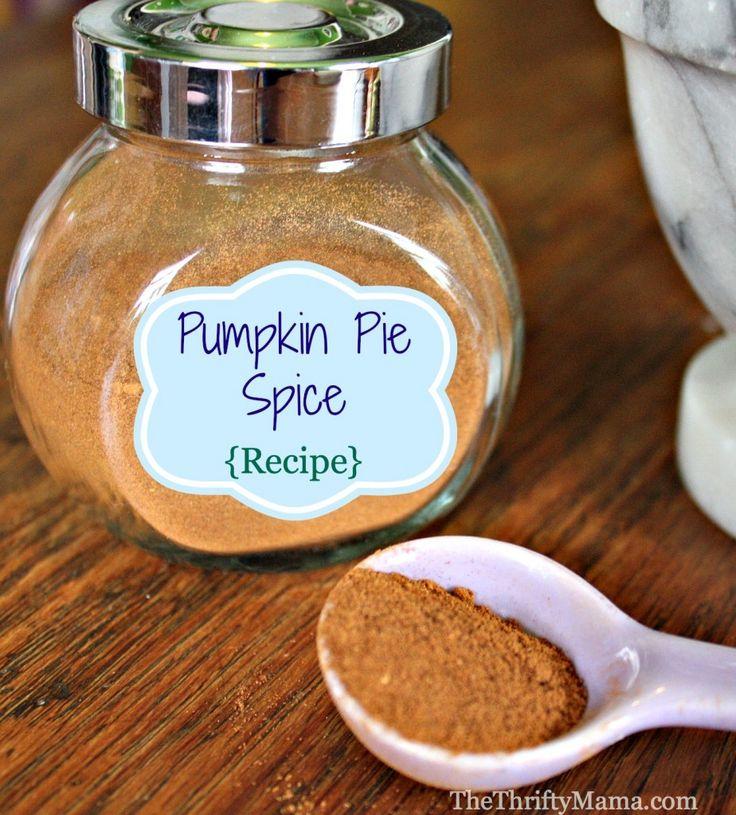 Pumpkin Pie Spice Recipe | Thanksgiving | Pinterest