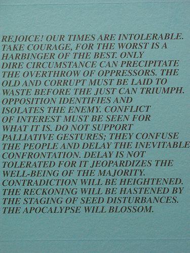 Truisms by Jenny Holzer Inflammatory Essays And