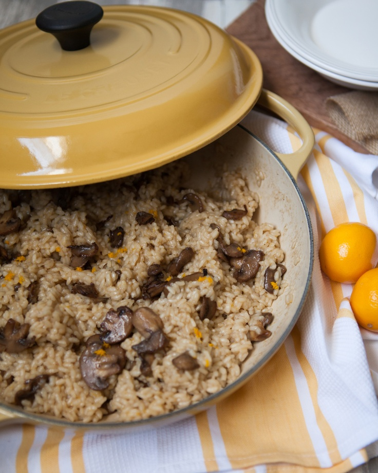 Meyer Lemon and Mushroom Risotto. Recipe from The Little Kitchen: http ...