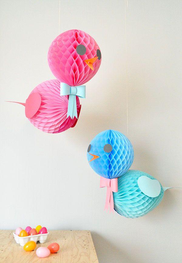 DIY Honeycomb Birds - Oh Happy Day!