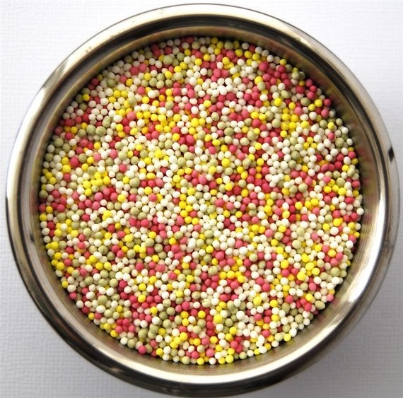 pink and yellow sprinkles