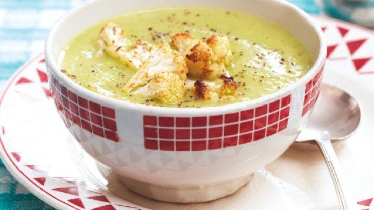 Cauliflower and Arugula Soup Recipe | YUM | Pinterest