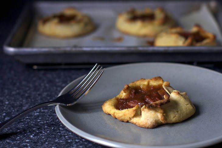 Rustic Rhubarb Tarts Recipe | Cakes | Pinterest