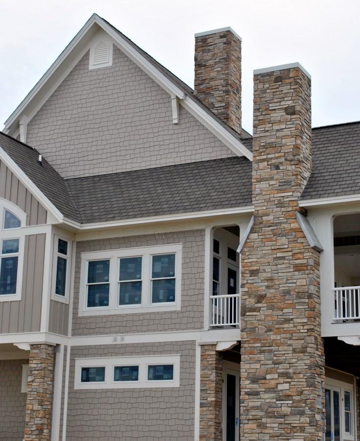Stone Chimneys House Makeover Pinterest