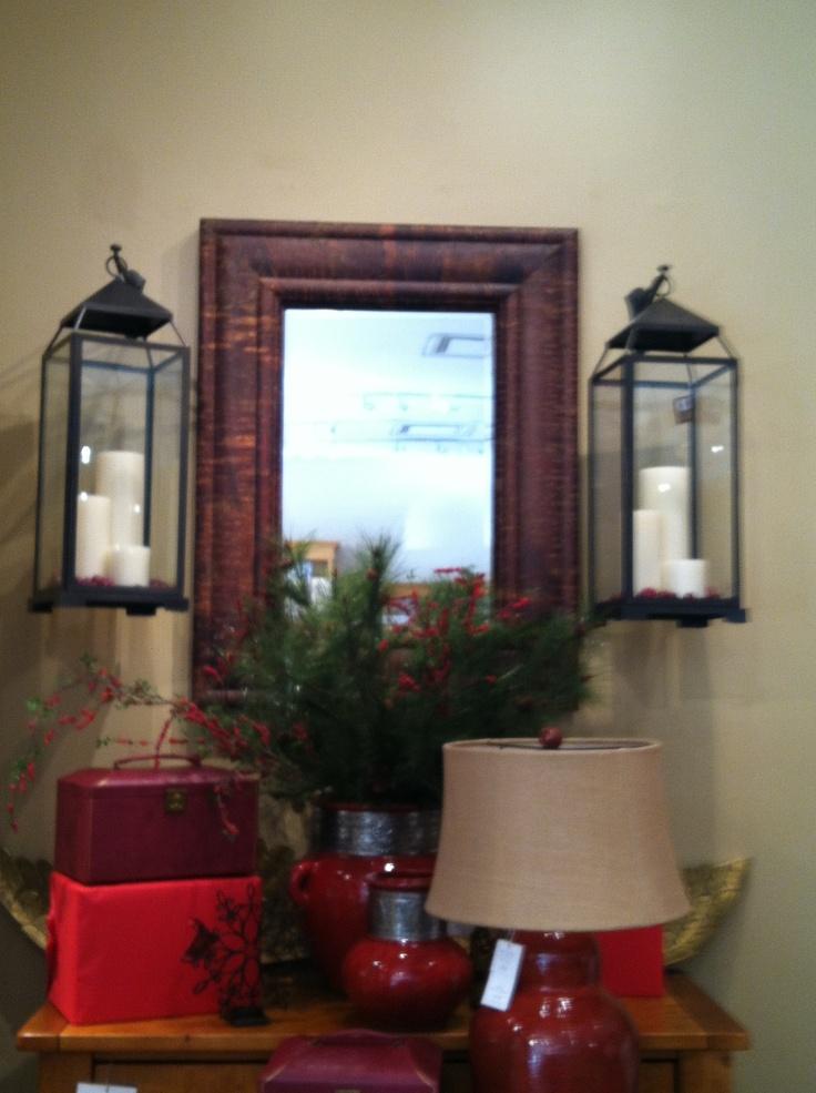 Mirror And Hurricane Lamps Balance Wall Love Pinterest