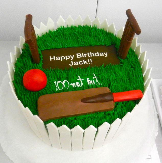 Cricket birthday cake Happy Birthday! Pinterest