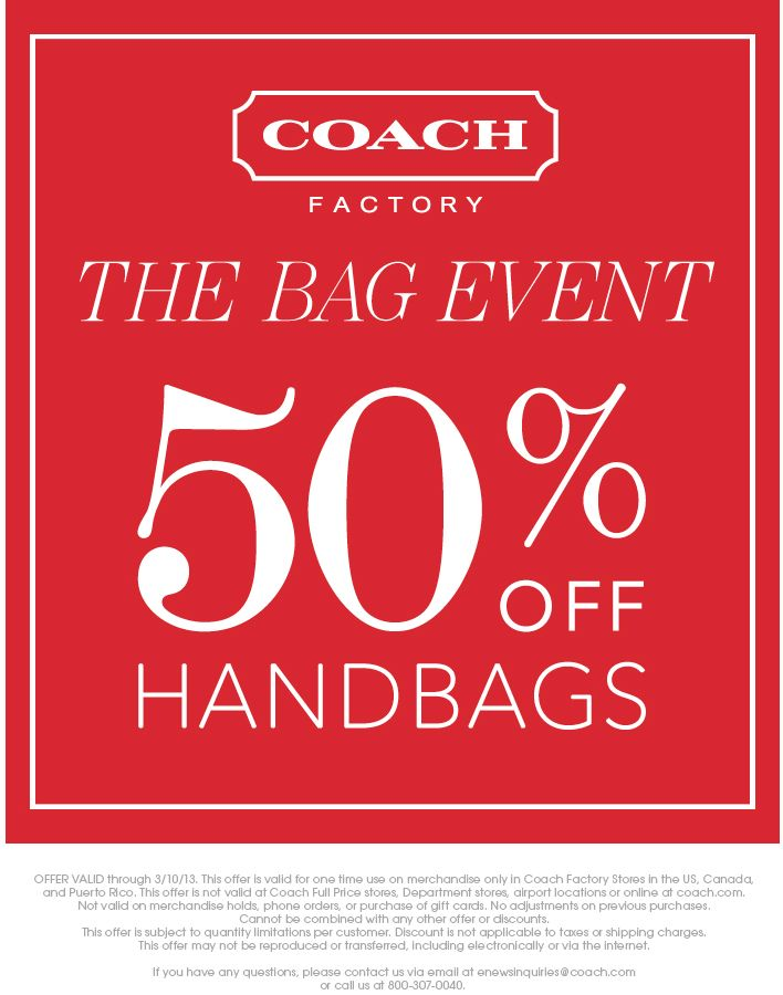 Coach purse coupons printable