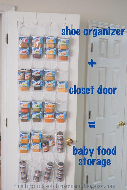 How to organize and store baby food kiddoooooooos - Baby shoe organizer ideas ...