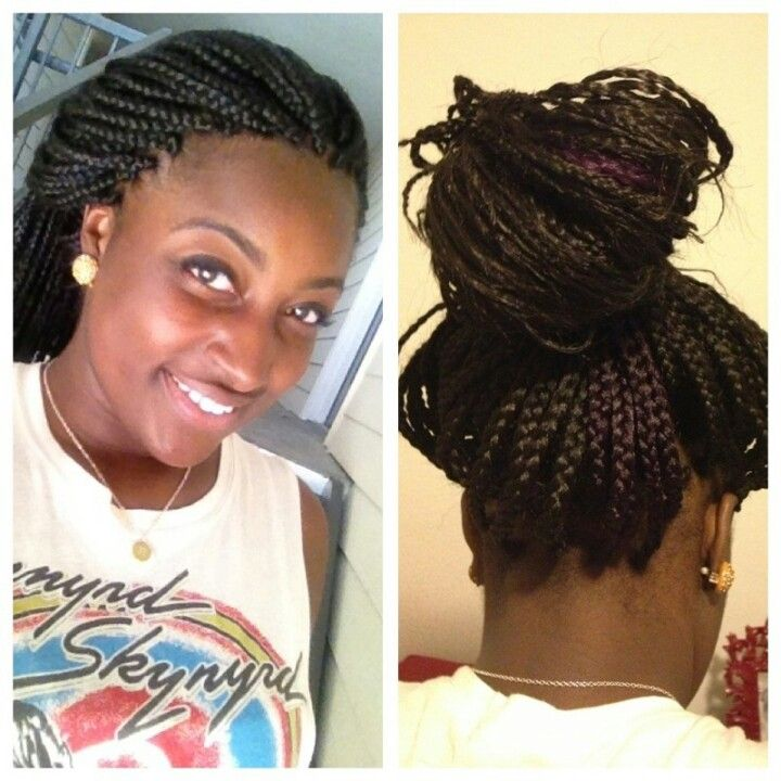 Crochet Box Braids With Individuals : Individual (box) braids with purple patch at the back Natural ...