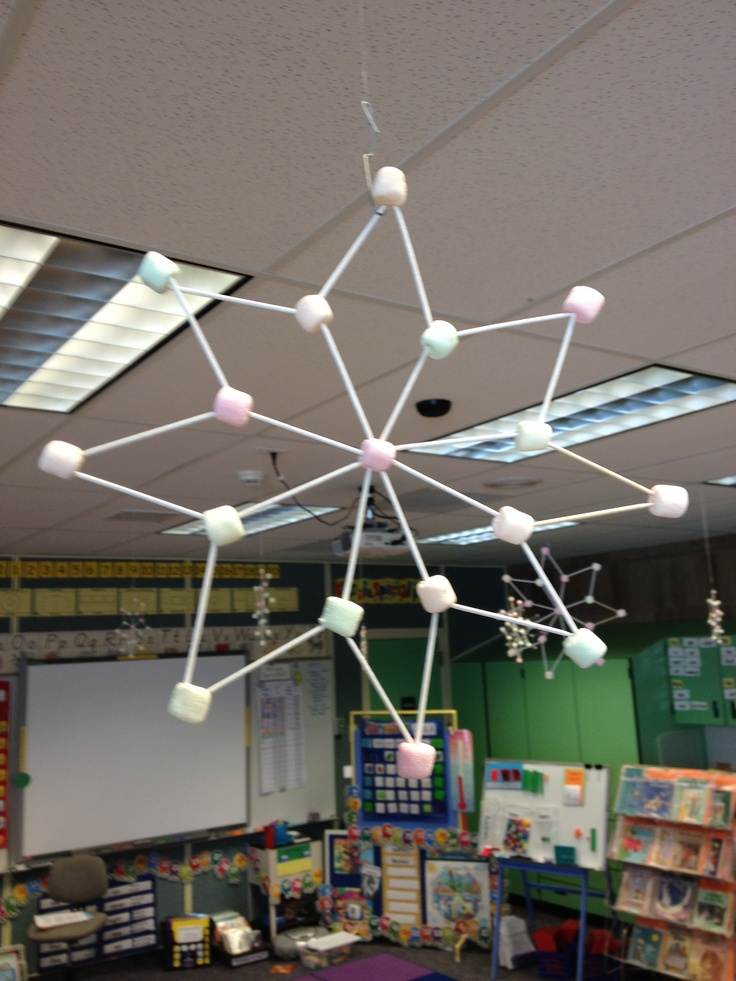 Toothpick and Marshmallow Snowflakes. | Teacher Time | Pinterest