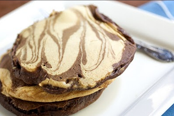 Peanut Butter Chocolate Swirl Pancakes | For Your Fork, Knife, And Sp ...