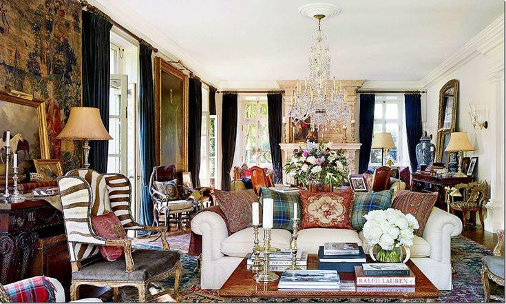 Ralph lauren 39 s country home living rooms pinterest - Ralph lauren country home ...