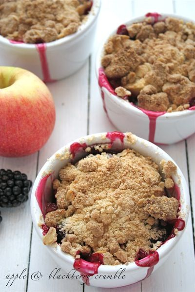 Apple and blackberry crumble | Berry Heaven | Pinterest