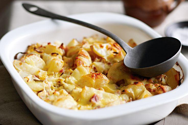 Potato, Bacon And Leek Gratin Recipe - Taste.com.au. Add savoury short ...