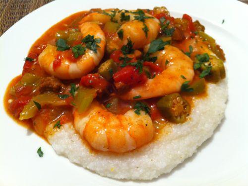 Shrimp & Okra Gumbo | Shrimp , Scallops, Crabs, Shellfish | Pinterest