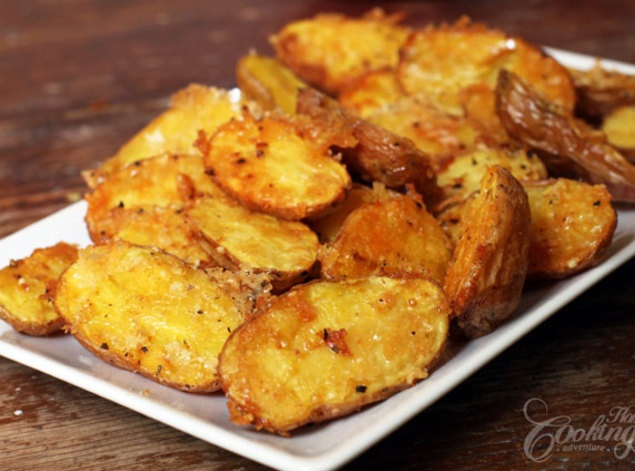 Parmesan Roasted Baby Potatoes | Appetizers | Pinterest
