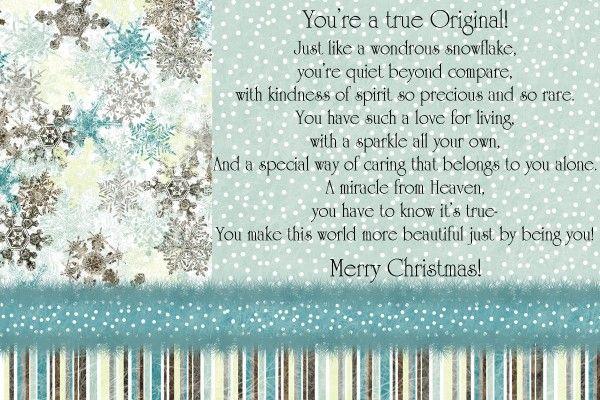 Unique snowflake poem snowflake poem and ornament make amp take