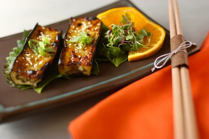... in the garden! good idea for them = miso-glazed japanese eggplant
