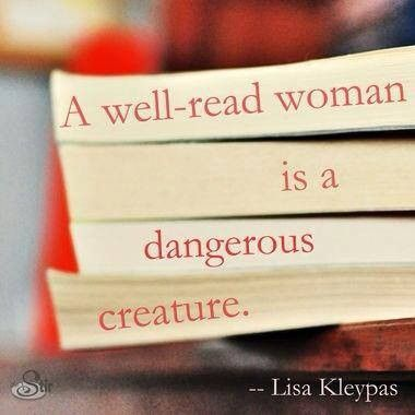 A well-read woman...