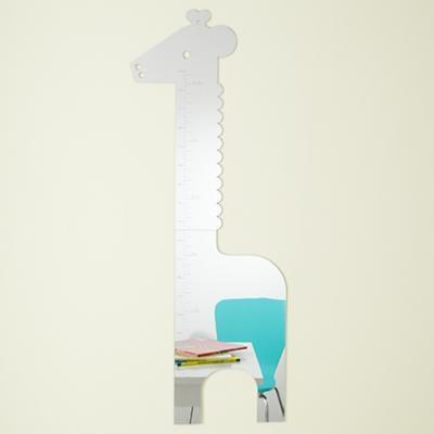 Kids' Mirrors: Kids Giraffe Shaped Mirror Growth Chart in All Wall Art