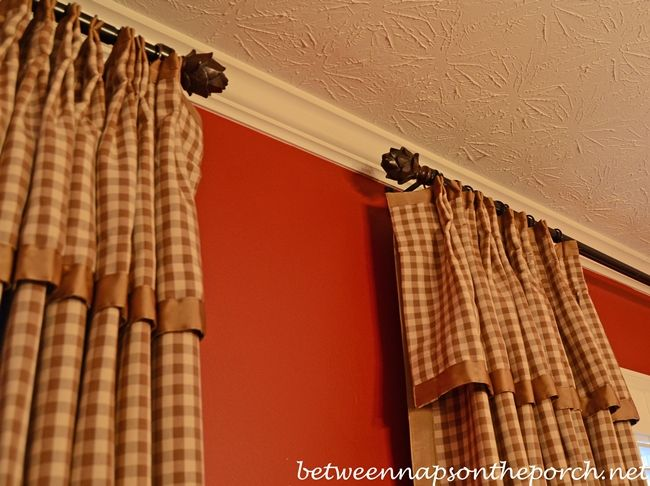 Check Curtains Draperies with French Pleats and Grosgrain Trim | DiY ...