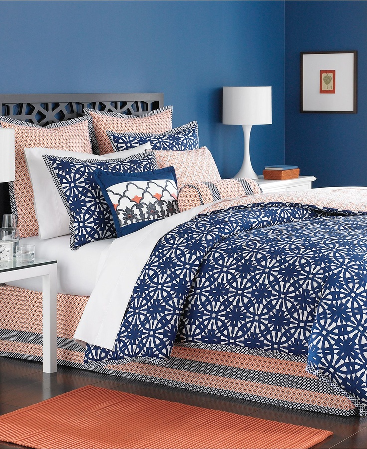Orange and navy blue bedding submited images - Navy blue and orange bedding ...