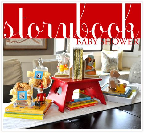 storybook baby shower baby shower pinterest
