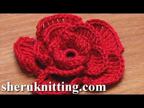 Crochet Rose Flower Tutorial 20 crochet Pinterest
