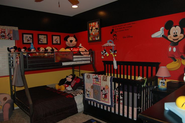 disney mickey mouse bedroom decorating