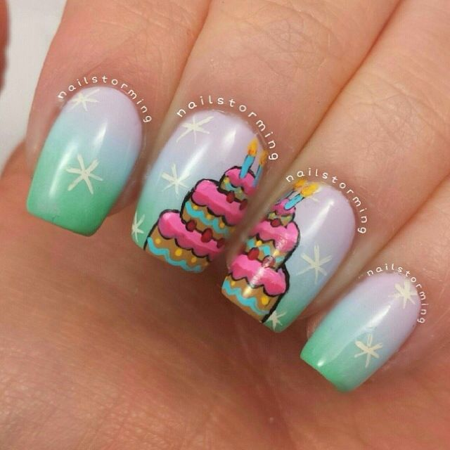 Nail Cake: Birthday Cake Nails By Nailstorming