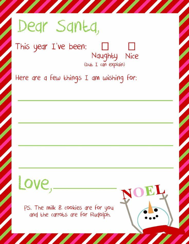 Dear Santa Letter Printable | x-mas | Pinterest