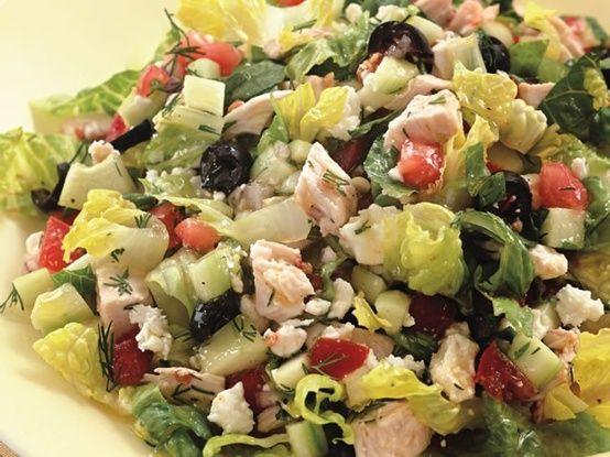 Chopped Greek Salad with Chicken   Salads   Pinterest