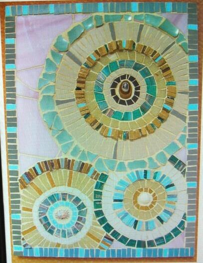 Cool Circles Flower Pot Mosaic Designs Pinterest