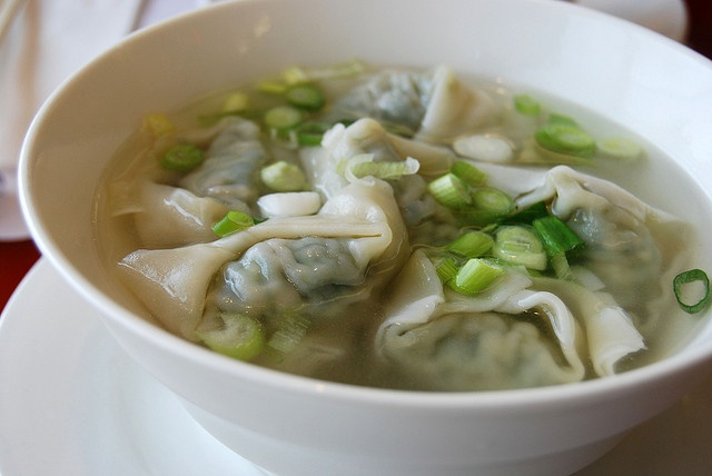 spinach and pork wonton soup | Foods | Pinterest