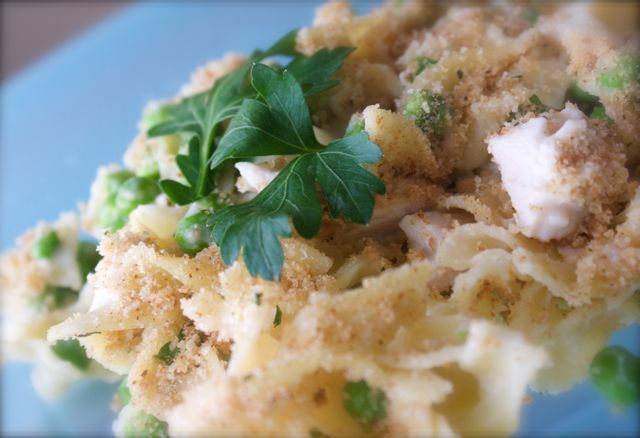 Chicken noodle casserole. Made this tonight. Added grated Parmesan to ...