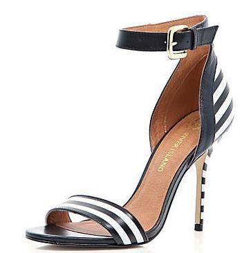 black and white stripe sandals culture couture