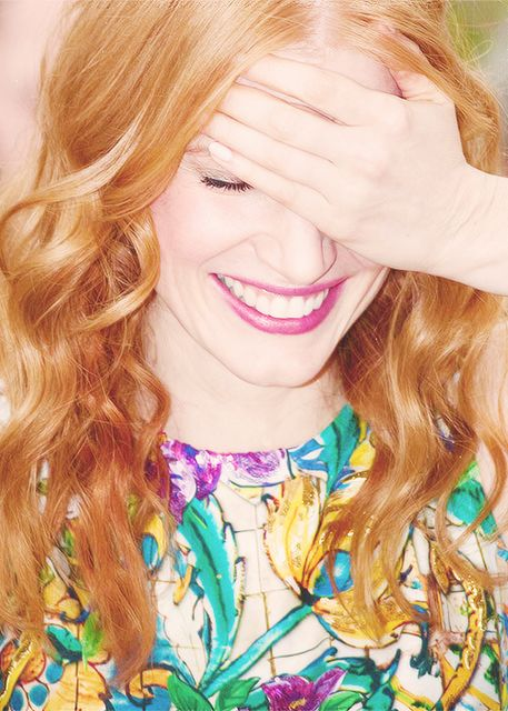 Jessica Chastain | Strawberry Blonde Hair | Pinterest