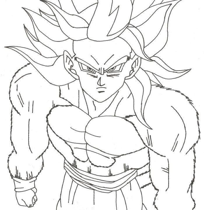 Free super saiyan 4 goku coloring pages Vegeta Super Saiyan 4 Coloring Pages