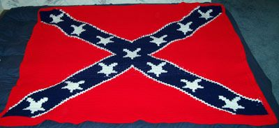 Crochet Patterns Rebel Flag : Ravelry: Crocheted Confederate Flag Afghan pattern by Anne in Manitoba
