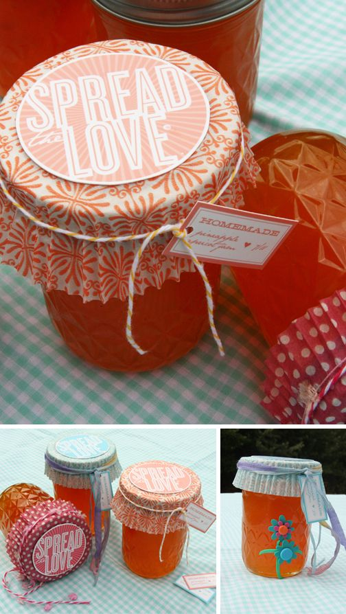 Free printable label for a quot spread the love quot gift for jam dips a