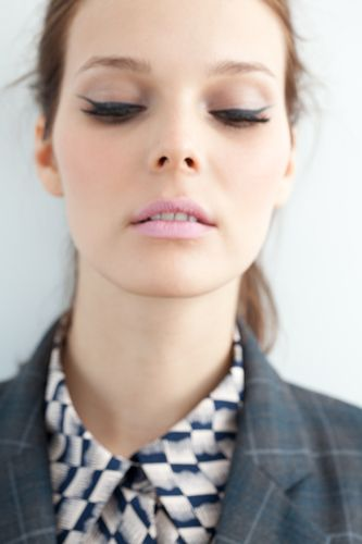 Winged liner and pastel pink lips in the new Tocca lookbook. So '60s yet so modern.