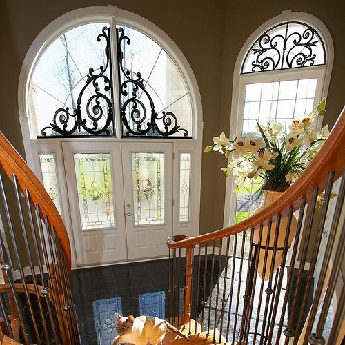 Scroll work over the door and window room home ideas for Window scroll function