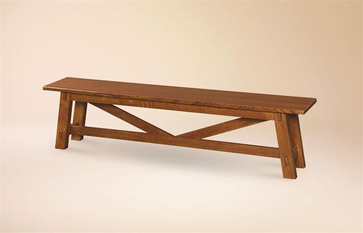 Manitoba Amish Rustic Trestle Bench