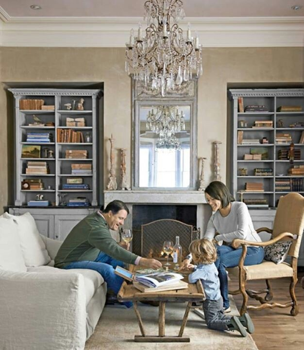 Beautiful Fireplace With Flanking Bookcases  Traditional  Baltimore  By Miles