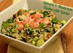 Spinach & Mushroom 'Risotto' with Lobster {A Recipe Redux} via ww...