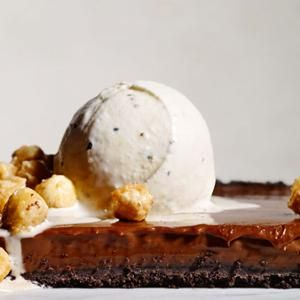 Double Chocolate Tart with Black Pepper Ice Cream - Black pepper helps ...