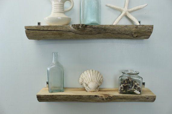 Driftwood wall shelves set of 2 natural driftwood for Driftwood wall shelves