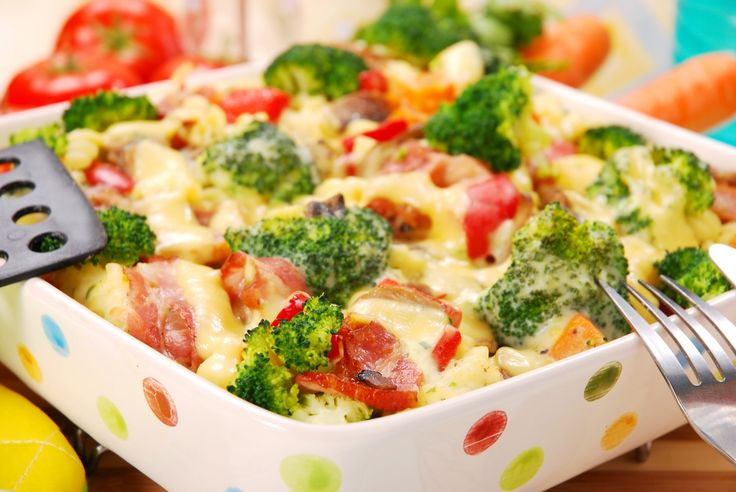Ham, Broccoli & Mozzarella Bake