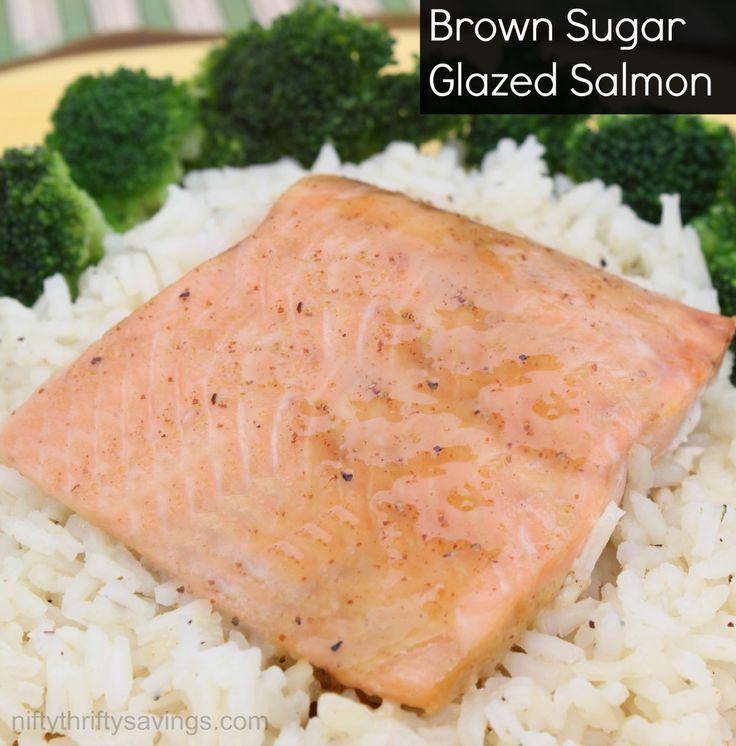 Salmon With Brown Sugar And Mustard Glaze Recipe — Dishmaps